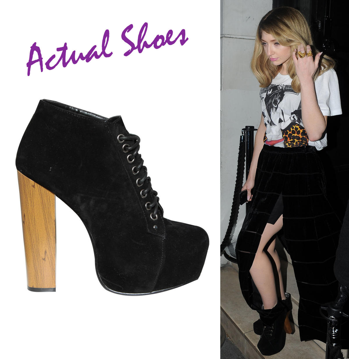 Black Lace Up Ankle Boot Preview